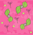 pink bubble gum floral repeat pattern vector image