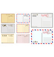 postcard blank template vector image vector image