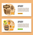 poster template apiary and honey theme vector image