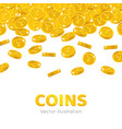 rain gold chinese yuan or japanese yen cartoon vector image vector image