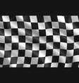 rally or car races flag vector image vector image