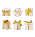 realistic decorative gift boxes 3d gifts white vector image vector image