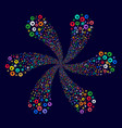 rounded arrow centrifugal flower cluster vector image vector image