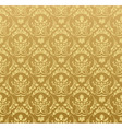 seamless wallpaper background floral vintage gold vector image vector image