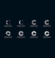 set of initial letter c abstract logo template vector image vector image