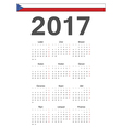 Simple Czech 2017 year calendar vector image