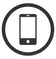 Smartphone Icon Rubber Stamp vector image