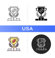 sport achievements icon vector image