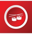Sushi rolls icon on red vector image