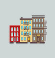 the typical buildings of new york city vector image vector image