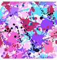 turquoise purple pink ink paint splashes seamless vector image vector image