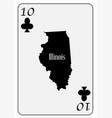 usa playing card 10 clubs vector image