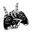 vintage monochrome gaming concept vector image