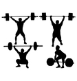 Weight Lifting Silhouette vector image vector image