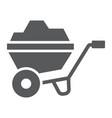 wheelbarrow glyph icon tool and cart vector image vector image
