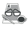 writing and storytelling writer working tools vector image