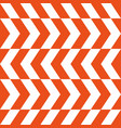 zigzag patternred white intermittent lines vector image