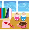 kids desk vector image