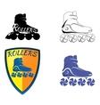 Logo roller skating vector image