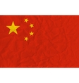 People Republic of China paper flag vector image
