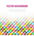 Abstract geometric background with 3D cubes vector image vector image