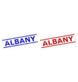 albany watermarks with grunge surface and parallel vector image vector image
