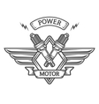 auto emblem to spark plugs vector image