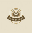 bakery badge or label retro vector image vector image