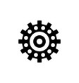 ball bearing industrial mechanism icon vector image vector image