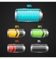 Battery level indicator vector image