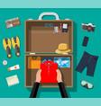 big travel set summer holiday tourism vacation vector image vector image