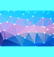 blue shades pink geometric background with mesh vector image vector image