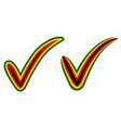 check mark style zimbabwe flag symbol elections vector image vector image