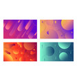 colorful dynamic shapes composition on gradient vector image vector image