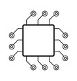 computer chip icon accessories for digital vector image