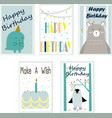 cute baby birthday card vector image