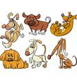 cute dogs set cartoon vector image vector image