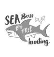 cute shark hand drawn sketch t-shirt print design vector image vector image