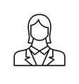 employee woman flat icon vector image vector image