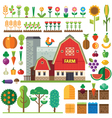 Farm in village vector image