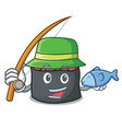 fishing ikura mascot cartoon style vector image vector image