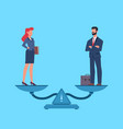 gender equality man and woman in business vector image