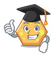 graduation hexagon character cartoon style vector image