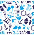 greece country theme symbols seamless blue pattern vector image vector image