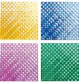 halftone textures vector image vector image
