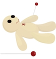 Halloween voodoo doll with pin vector image vector image
