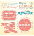 Happy birthday greeting card collection in holiday vector image vector image