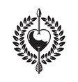 heart pierced by arrow vector image