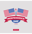 Independence day of America Typography design vector image