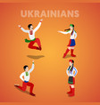 isometric ukrainian dancing people vector image